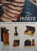 Max Factor Primitif Christmas Ad 1956