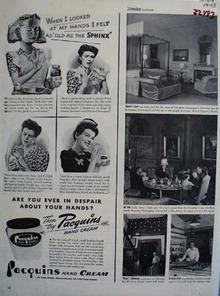 Pacquins Hand Cream Ever In Despair Ad 1943