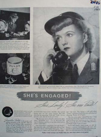 Ponds And Lieutenant Jacqueline Proctor Ad 1943