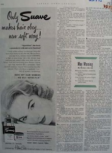 Suave Cosmetic For Hair Makes Hair Obey Ad 1952