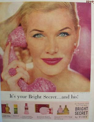 Tussy Bright Secret Ad 1956