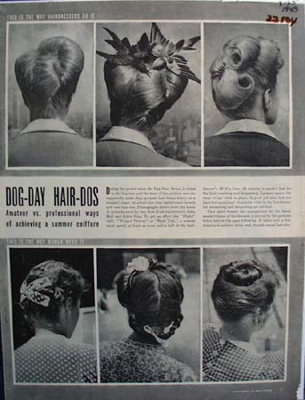 Dog Day Hair Dos Ad   1943