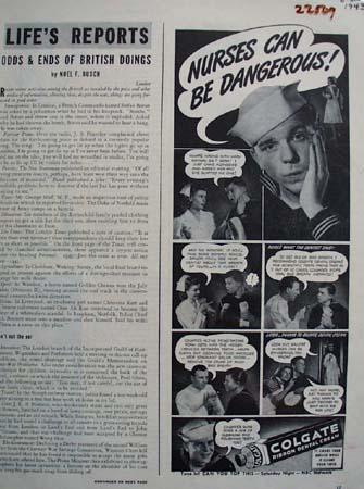 Colgate Nurses Can Be Dangerous Ad 1943