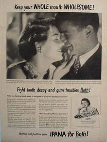 Ipana toothpaste Mouth Wholesome Ad 1950