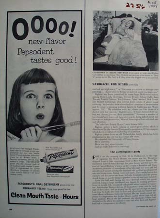 Pepsodent New Flavor Tastes Good Ad 1954