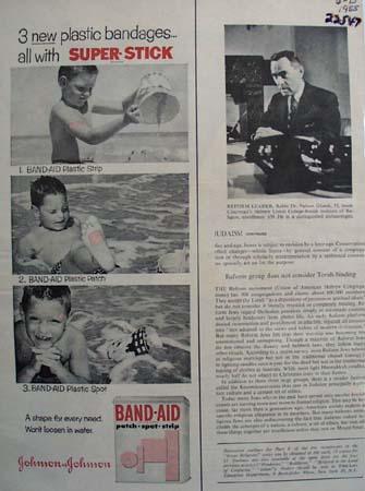 Band Aid Three New Bandages Ad 1965