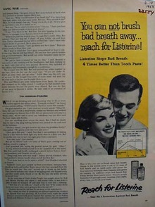 Listerine Mouth Wash Reach For Listerine Ad 1958