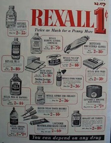 Rexall Drug Store Twice As Much Ad 1954