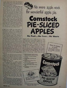 Comstock Apples For Apple Pie Ad 1950