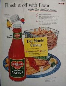 Del Monte Catsup Finish It With Flavor Ad 1954