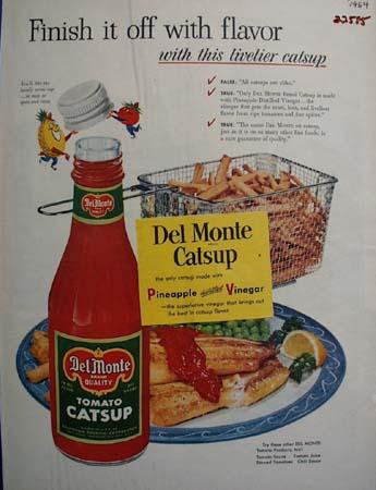 Del Monte Catsup Finish It With Flavor Ad 1954