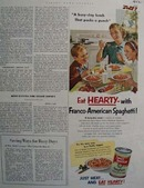 Franco American Eat Hearty Ad 1952