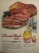 Frenchs Mustard And Corned Beef Ad 1950