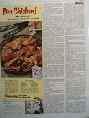 Frenchs Spices Pan Chicken Ad 1952