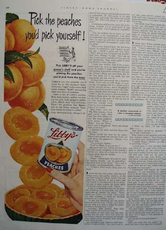 Libbys Pick The Peaches Ad 1952