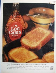 Log Cabin Maple Flavor Makes French Toast Ad 1961