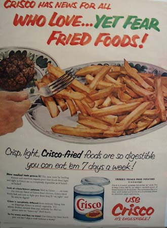 Crisco Fried Foods Ad 1953