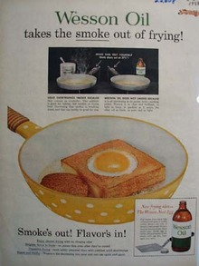 Wesson Oil Takes Smoke Out Of Frying Ad 1958