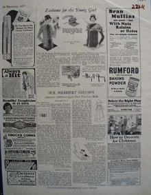 Rumford Baking Powder Bran Muffins Ad 1927
