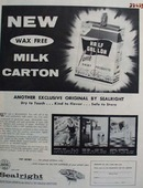 Sealright Milk Carton Ad 1957