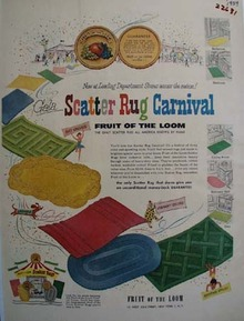 Fruit Of The Loom Scatter Rug Carnival Ad 1954