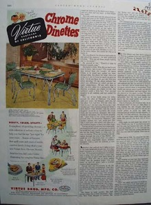 Virtue Bros Dinettes Beauty Color Ad 1952