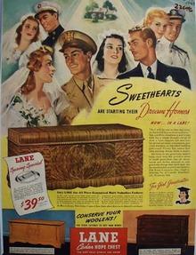 Lane Cedar Chest Sweethearts Ad 1943