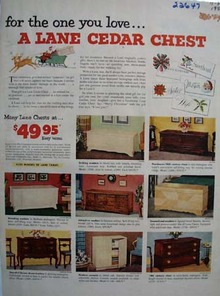 Lane Cedar Chest Christmas Ad 1953