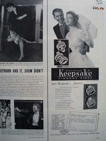 Keepsake Diamonds Your Keepsake Forever Ad 1954