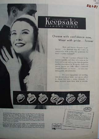Keepsake Diamond Wear With Pride Ad 1956