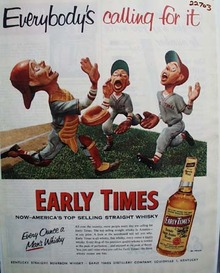Early Times Everybodys Calling for It Ad 1954