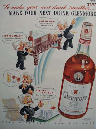 Glenmore To Make Your Next Drink Smoother Ad 1943