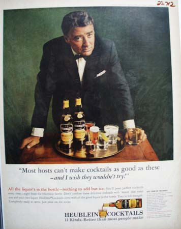 Heublein Cocktails And Peter Lawford Ad 1964