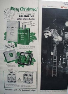 Palmolive After Shave Christmas Ad 1954