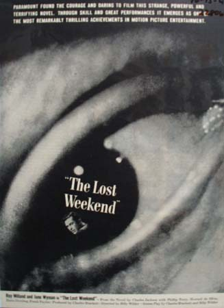 The Lost Weekend Movie Ad 1945,