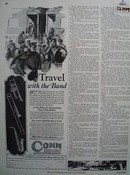 Conn Band Instruments Travel With Band Ad 1929