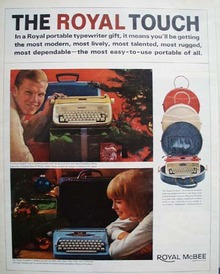 Corona Typewriter Christmas Ad 1927