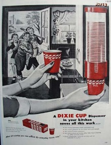 Dixie Cup Dispenser Children Through Door Ad 1954