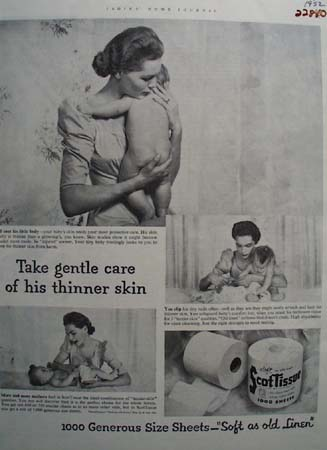Scott Tissue Gentle Care Ad 1952