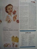 Tussy Perfume Flattering As a Corsage Ad 1952
