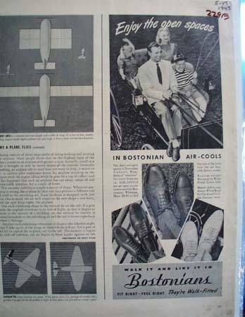 Bostonians Mens Shoes Walk It Like It Ad 1943