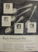 International Sterling Indianapolis Girls Ad 1951