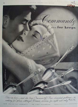 Community Silverplate For Keeps Ad 1952