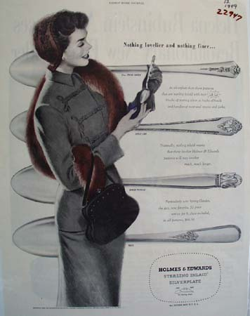 Holmes And Edwards Silverplate Nothing Lovelier Ad 1949