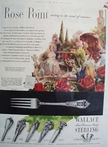 Wallace Silversmiths Mood Of Romance Ad 1952