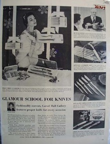 Briddell Inc Glamour School for Knives Ad 1953