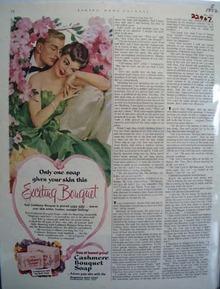 Cashmere Bouquet Soap Exciting Bouquet Ad 1952