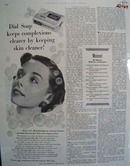 Dial Soap Keeps Skin Cleaner Ad 1952