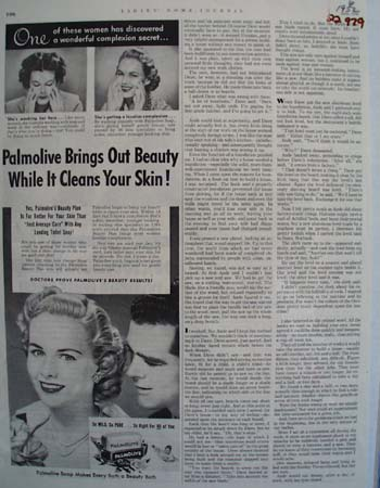 Palmolive Soap Brings Out Beauty Ad 1952