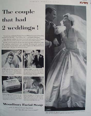 Woodbury Facial Soap Two Weddings Ad 1952